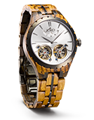 Meridian - Argent Wood Watch by JORD