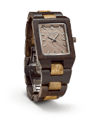 Reece - Golden Camphor & Khaki Wood Watch by JORD