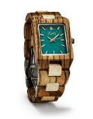 Reece - Zebrawood & Emerald Wood Watch by JORD
