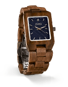 Reece - Walnut & Navy Wood Watch by JORD