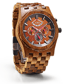 Sawyer - Koa & Bronze Wood Watch by JORD