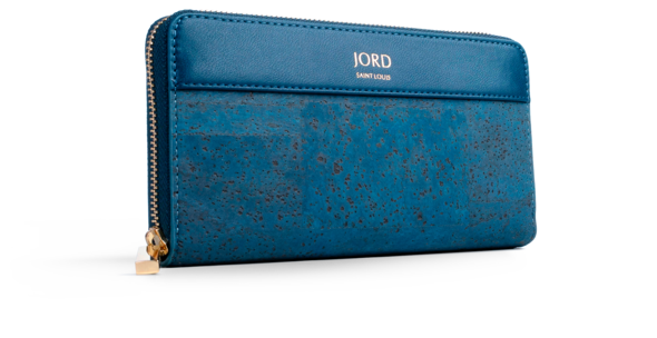 Eila - Peacoat Blue & Gold Zippered Wallet