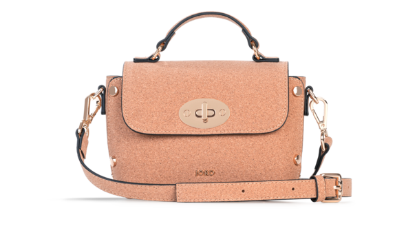 Nina - Natural & Gold Top Handle Crossbody 2