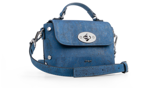 Nina - Peacoat Blue & Silver Top Handle Crossbody 1