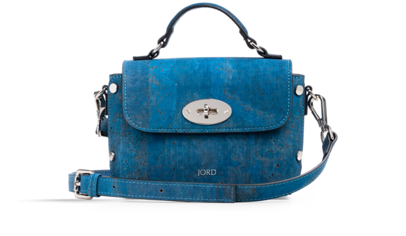 Nina - Peacoat Blue & Silver Top Handle Crossbody 2