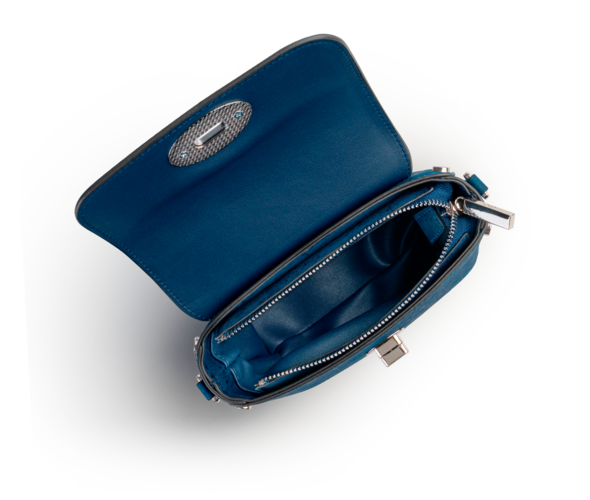 Nina - Peacoat Blue & Silver Top Handle Crossbody 3